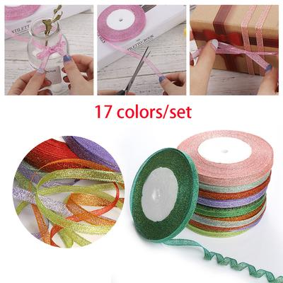 Decoration Merry Christmas Colorful Silk Card Decor Satin Ribbon Gift Wrapping