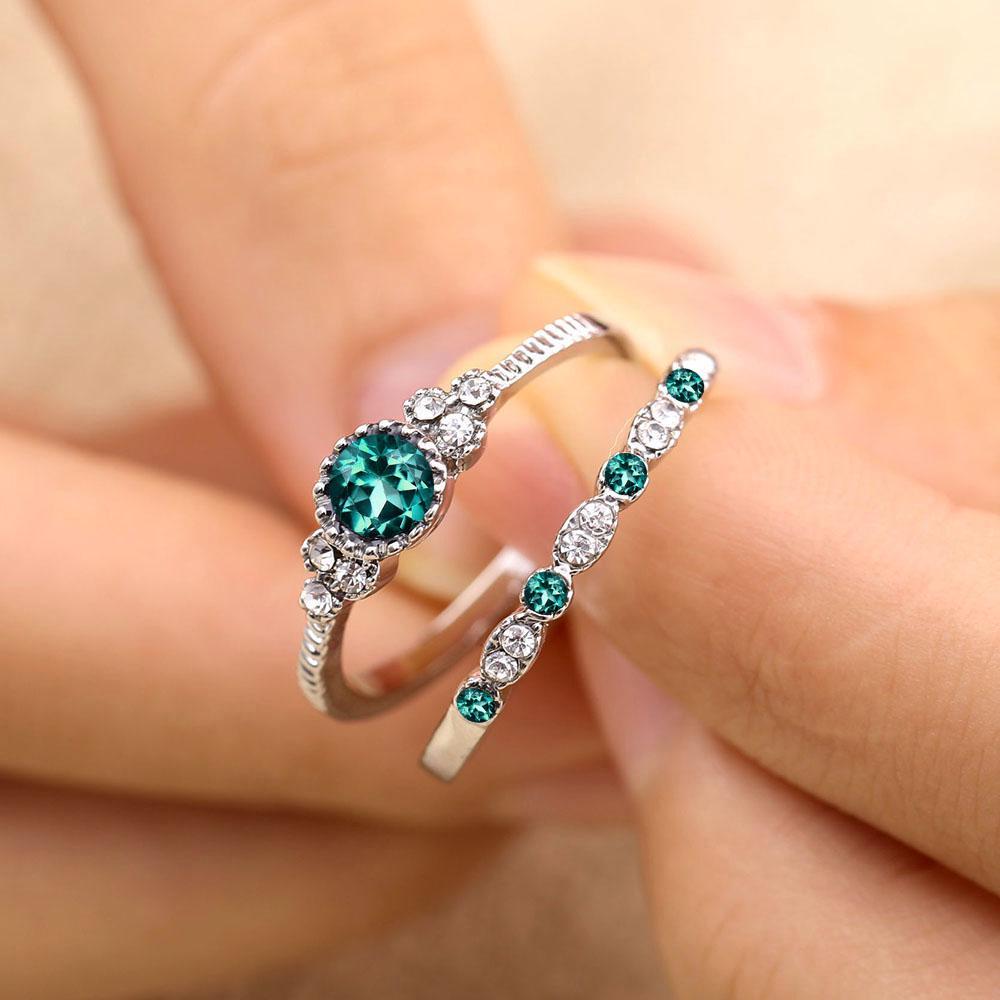 925 Silver Ring White Topaz Femmes Homme Cadeau Mode Mariage Fiançailles Taille 6-10