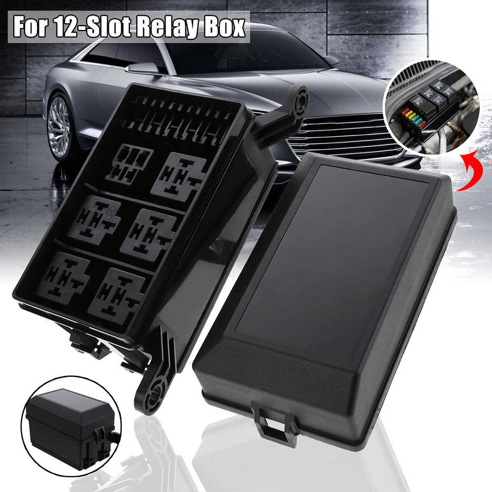 3 Blade Fuses - Fuse Relay Box for Automotive and Marine Use 4-Slot Relay Box 1 Relays Easy Installation