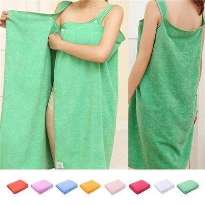 Super Absorbent Fabric Wearable Bathrobe Bath Skirt-buy at a