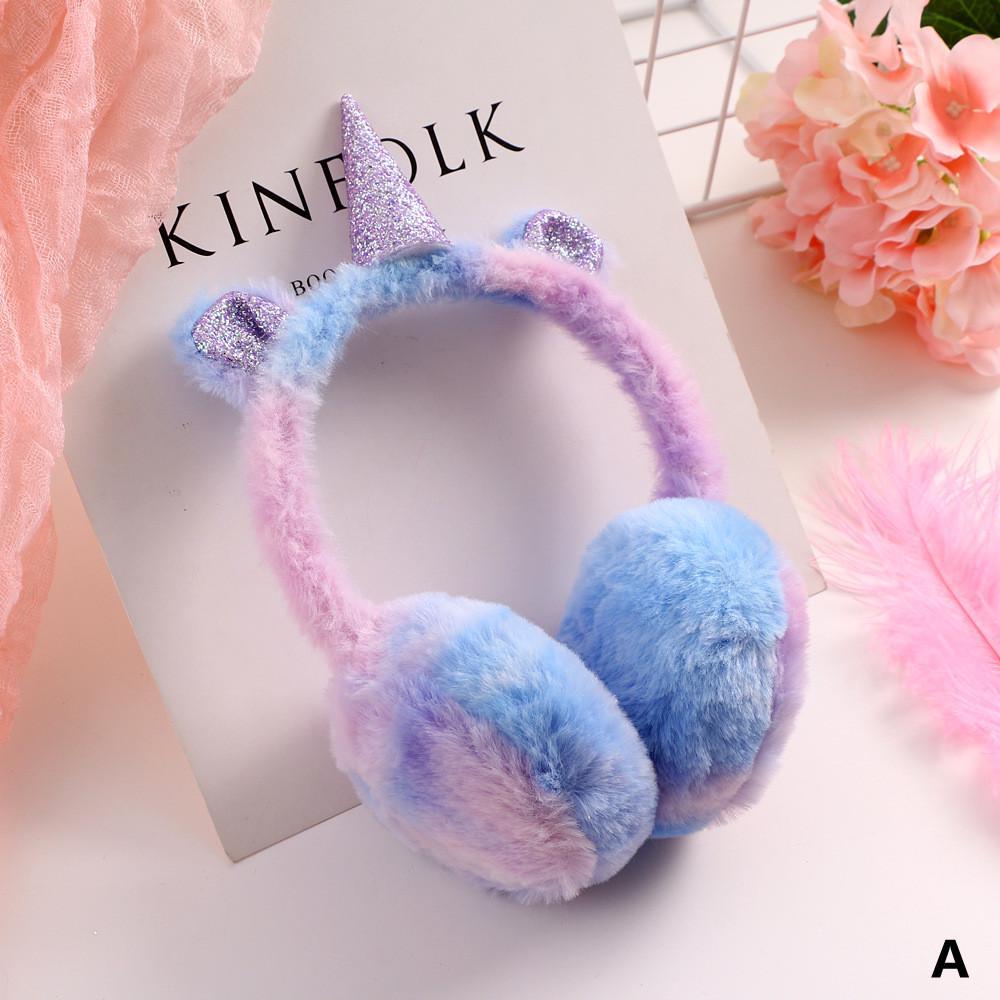 Pink Beautiful Flowers Petals Winter Earmuffs Ear Warmers Faux Fur Foldable Plush Outdoor Gift