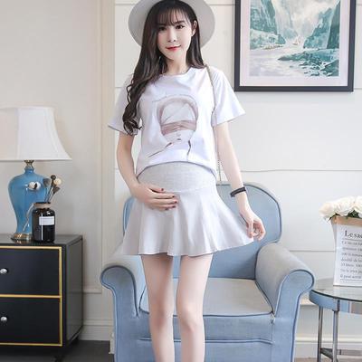 e07df6626 Mujeres cintura alta Casual Vestido de maternidad de Gasa falda embarazada