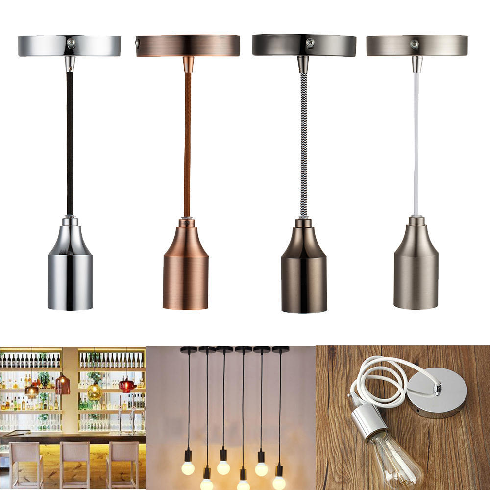 Fashion Interior Home E27 Silicone Ceiling Lamp Holder Pendant Light Voltage Ac Socket Without Wire 1 Of 10