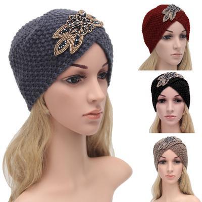 Mode Damen Hut Winter Warm Stirnband Mütze Häkeln Headwrap Knit Cap