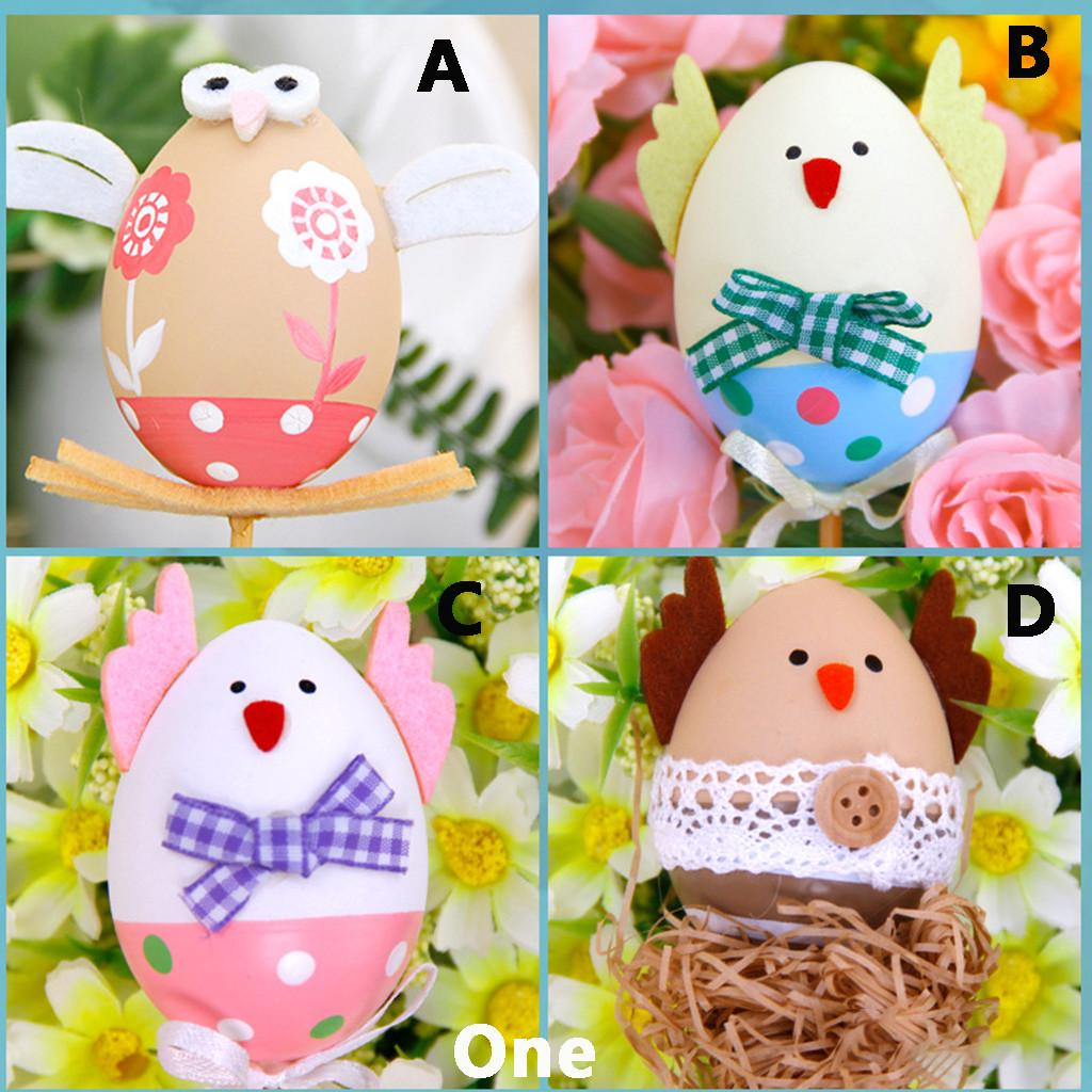 Easter Bunny Egg Display Home Party Decor 3Pcs House Decoration Rabbit Wedding