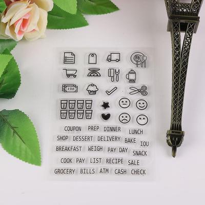 Transparentes freies Stempel-Silikon-Scrapbooking-Briefmarken-Blatt DIY Craft
