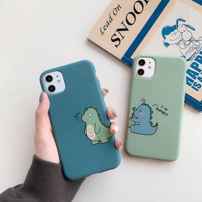 Couple Phone Case For iPhone 11 XR XS iPhone 6 6S 7 8 Plus SE 2020 Cute Silicone Case For iPhone XS Max 12 12 Pro Painted Back Cover