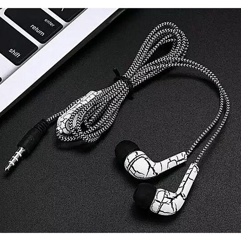 SFA10 新款裂纹耳机 带麦线控手机耳机 入耳式通用包装耳机 热卖