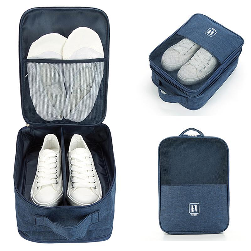Waterproof Travel Shoes Storage Zipper Bag Carry Case Dustproof Box Organizer Z