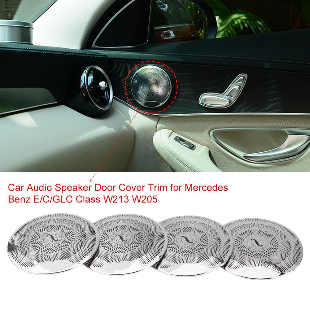For Mercedes Benz E Class W213 2017 Matte Car Door Audio Speaker Cover Trim 2pcs