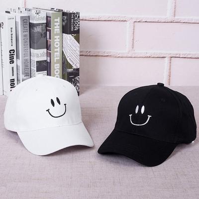 Бейсбол Cap моды вышитые улыбка лица мужчины женщины хип-хоп стиль Snapback  шляпа a742613c7b210