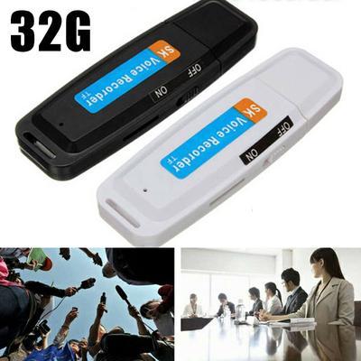 USB Flash Drive 32G Voice Audio Recorder Dictaphone USB Flash Drive Sound Record