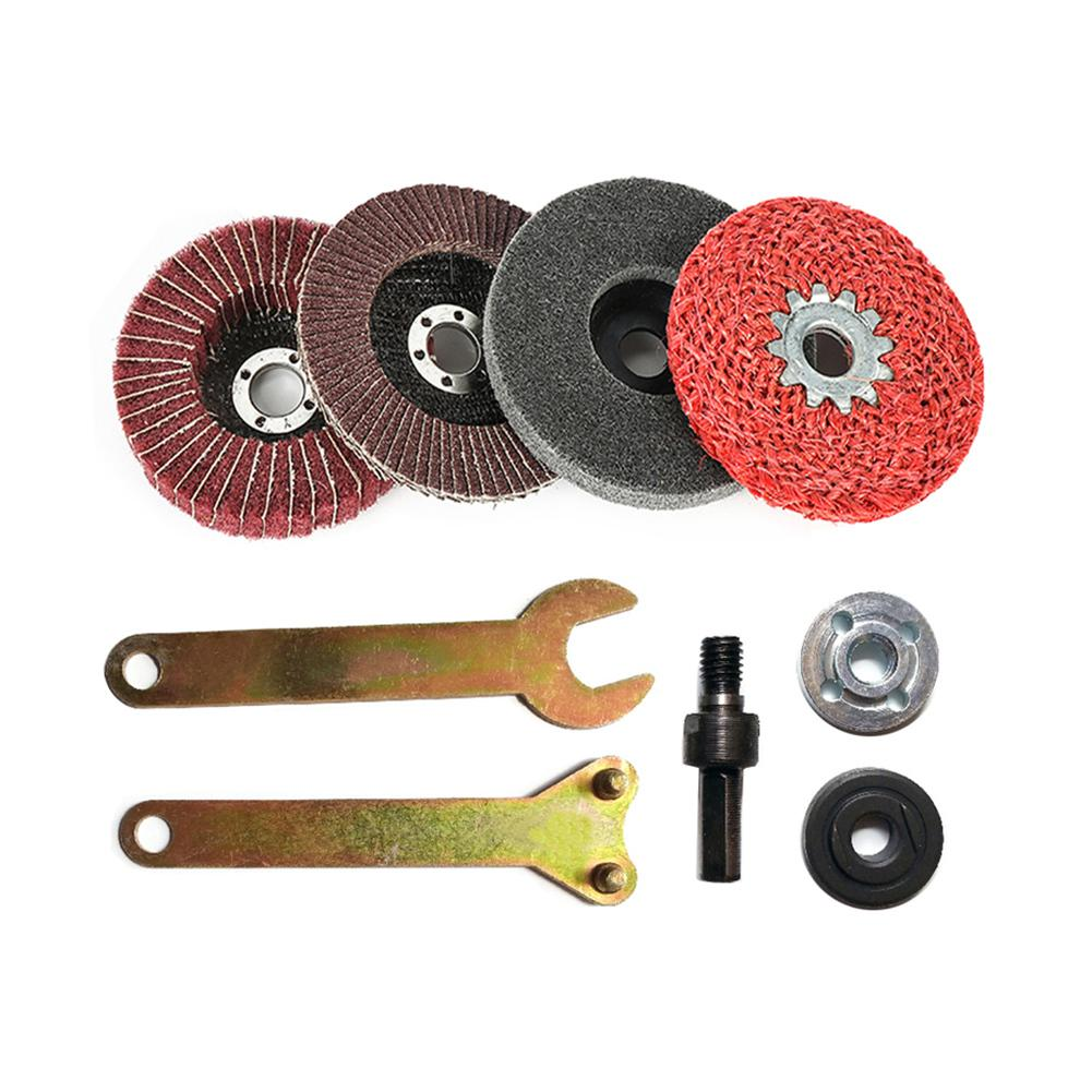 Angle Grinder Hole Drill Rod Conversion Kit Adapter Cutting Wheels Disc 5pcs//Set