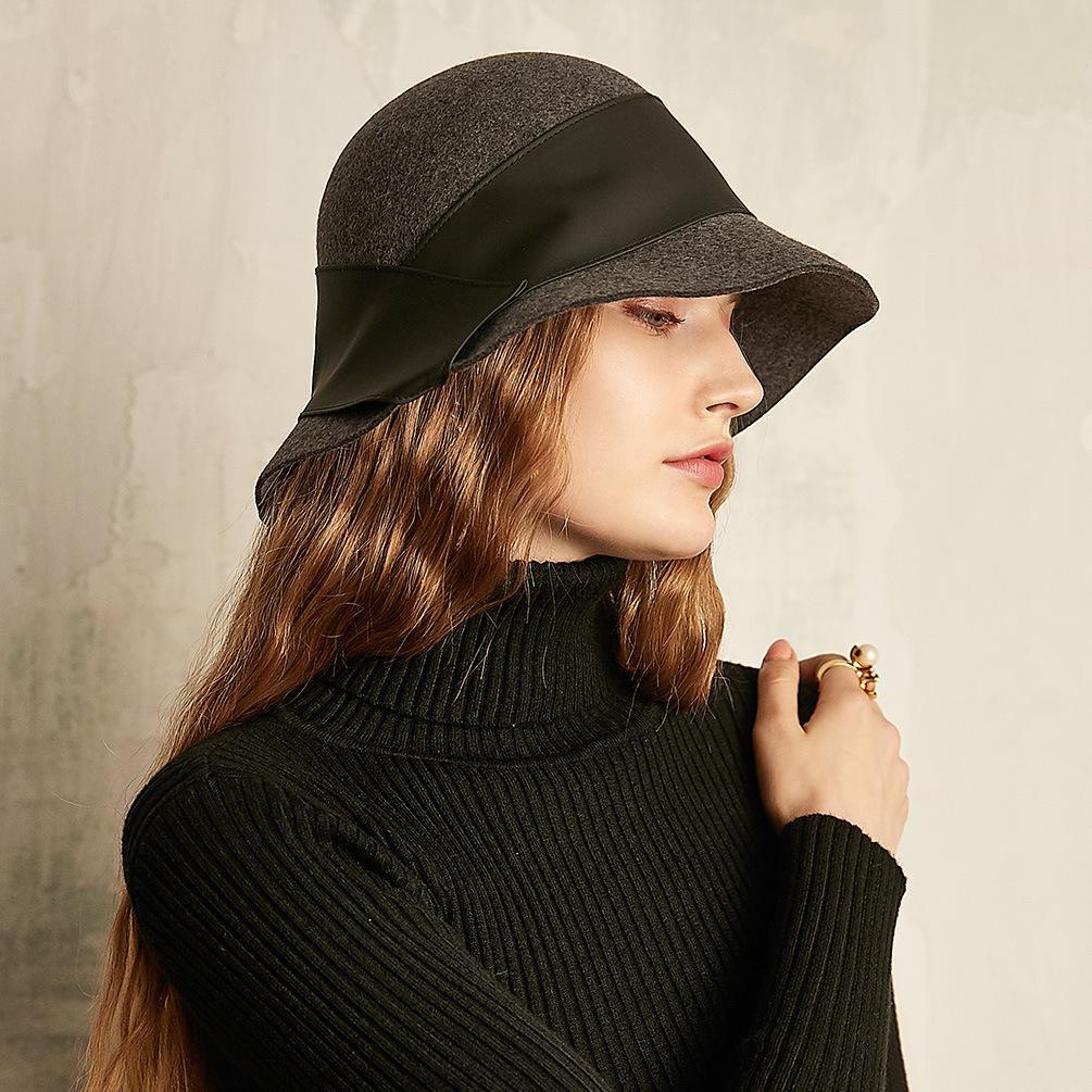 Sombrero de otoño e invierno moda lana gorra Casual todos-partido ... 4ab678d6d50