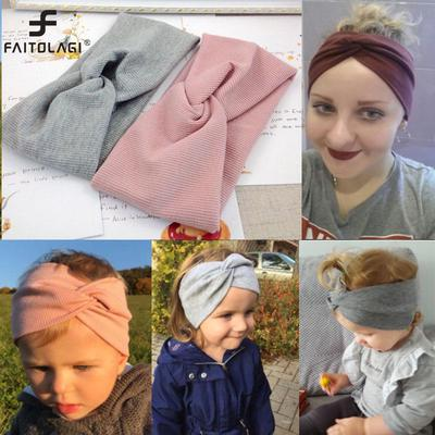 Solid Color Women Girls Headband Twisted Knotted Elastic Hair Band Hair Accessories Baby Headbands