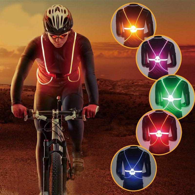 Cycling Back To Search Resultssports & Entertainment Cycling Vest Led Light Reflective Night Running Riding Safety Harness Outdoor Sports Strips Belt Bicycle Universal Bike Supplies