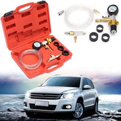 6pcs Vacuum Cooling System Car Auto Radiator Coolant Refill Purging Tools Gauge