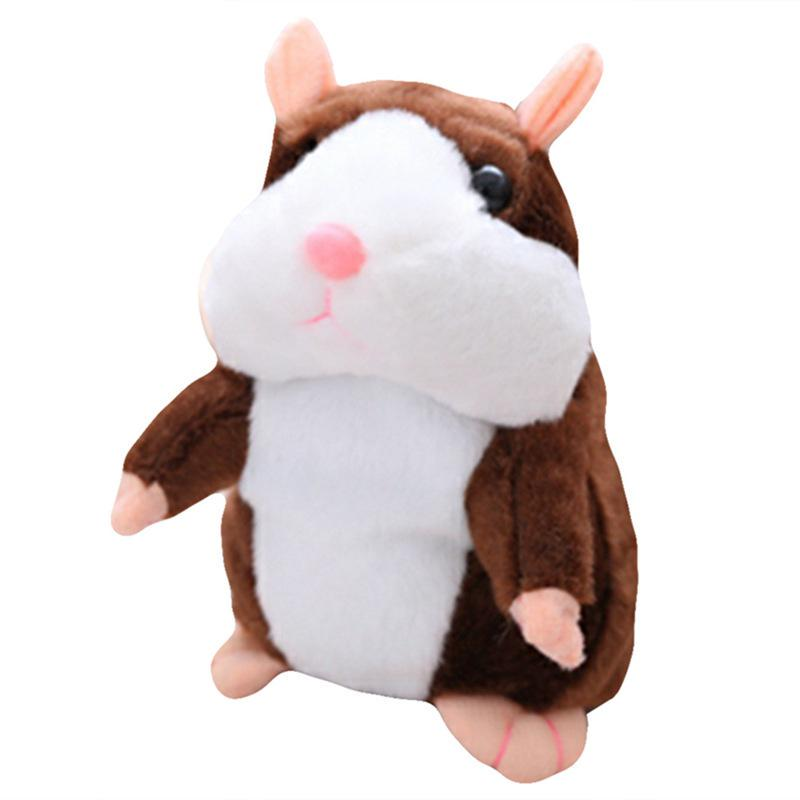 Talking Walking Hamster Mouse Pet Soft Plush Toy Sound Mimic Recorder Gray