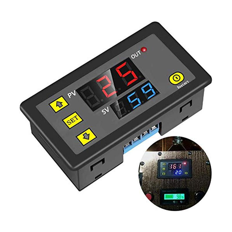 12V//24V Digital LED Display Cycle Timing Delay Timer Relay Module 0-999 Hours