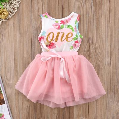 Baby Girl First 1st Valentine/'s Day Romper Tutu Skirt Dress Pricess Party Outfit