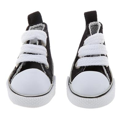 Pair of Lace Up High Top Canvas Shoes for 1 6 BJD Dolls Clothing Accessories 8293eb5ae5b7