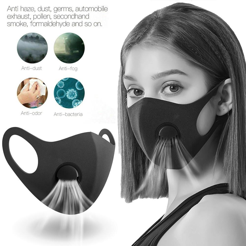 Dust 3 Valve Reusable Anti-Dust Filter Sunscreen Face Cover Guard Breathable