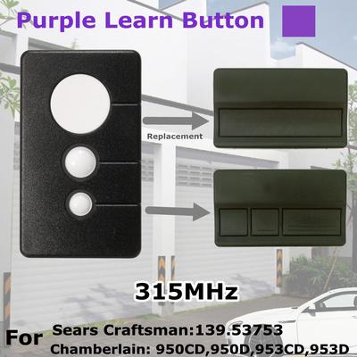 4 Button 315mhz Garage Door Opener Remote Control For Chamberlain Craftsman Liftmaster Sears 370lm 371lm 372lm 373lm 374lm 953 950cd Hbw1573 Compatible For Purple Learn Button Amazon Com