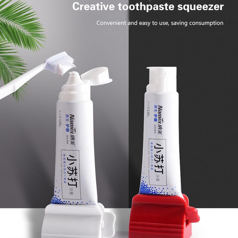 Facial Cleanser Squeezer Toothpaste Dispenser Manual Bathroom Tube Roller Holder