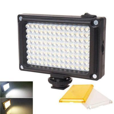 Color : Yellow SLR Camera Professional Photography Light Portable Photography Light Fill Light Adjustable LED Light