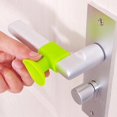 Creative Door Handle Protective Crash Pad Lock Wall Silencer Anti-Collision Sucker