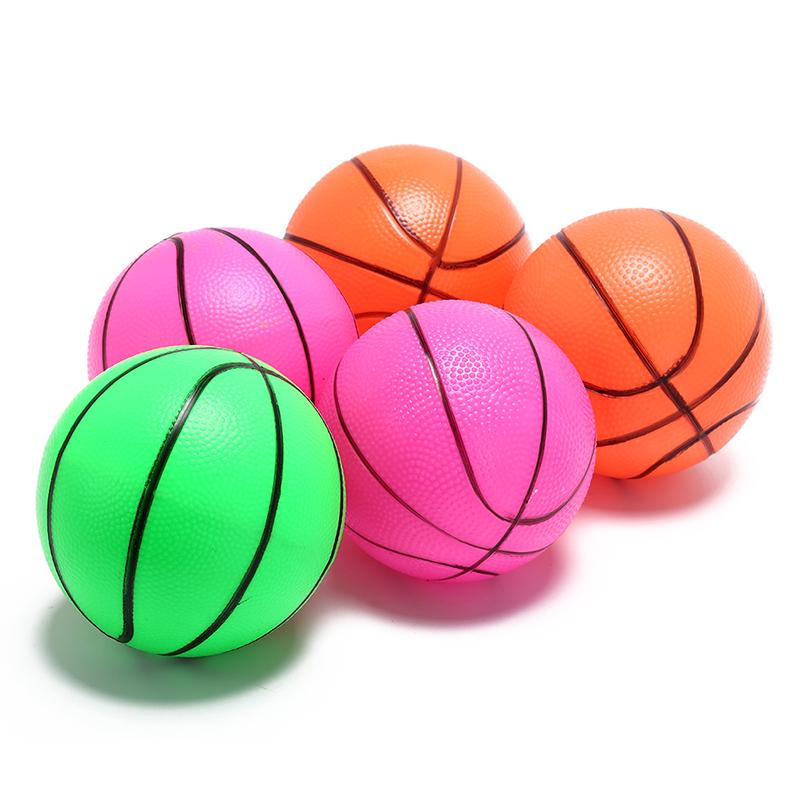 2x Inflatable Toys Bouncy Basketball Indoor Outdoor Toys Kids Sports Ball