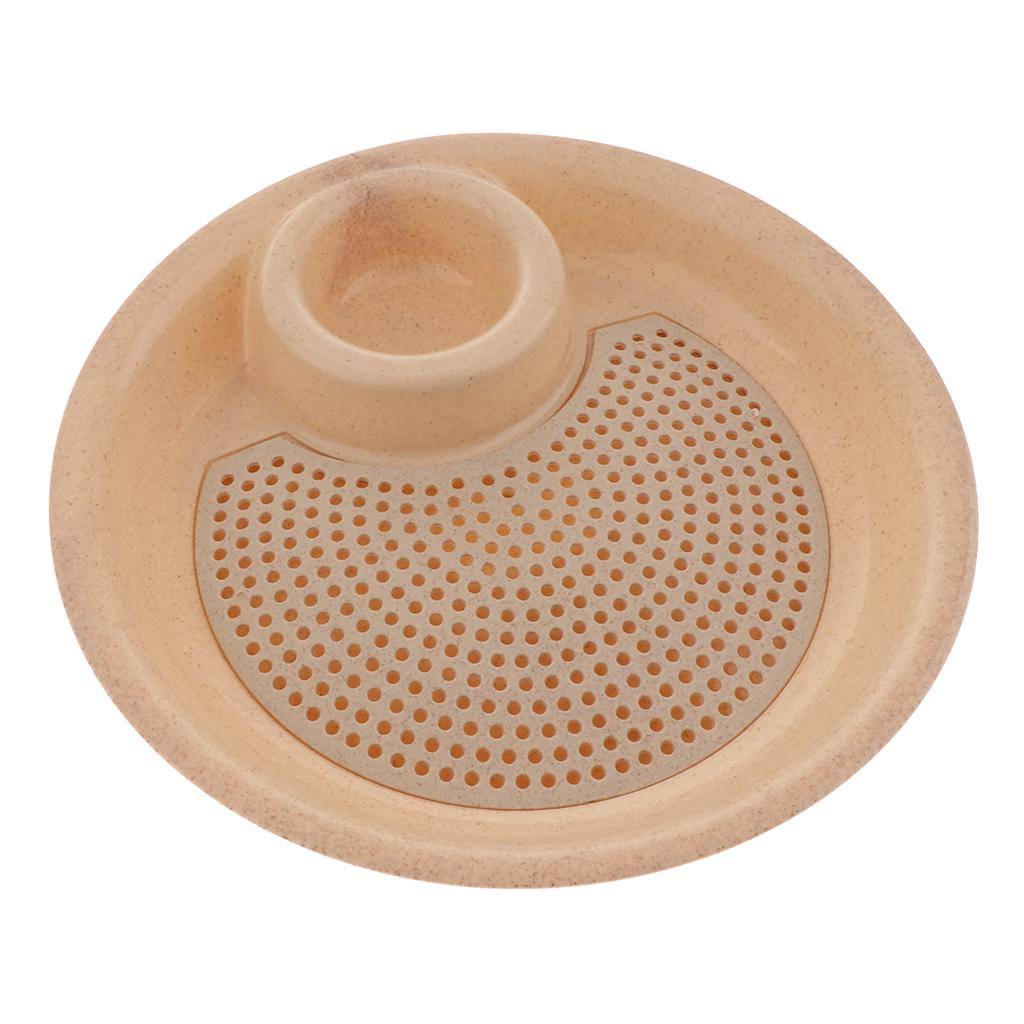 5pcs//set Wheat Straw Plates Simple Economical Biodegradable Sturdy Plates Dishes