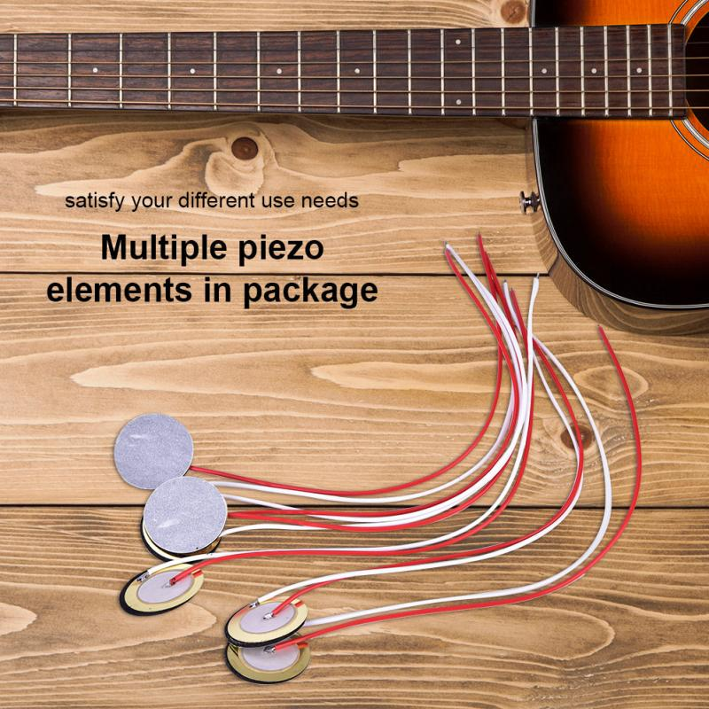 Replacement Part Piezo Transducer Pickup Cable for 4-String Cigar Box Guitar