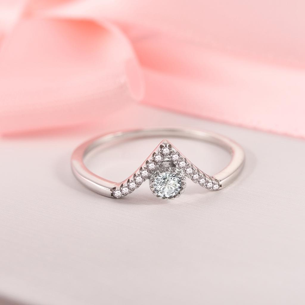 Womens Fashion Pinky Solid Wave Shape Tail Rings Wedding Engagement Jewelry Gift