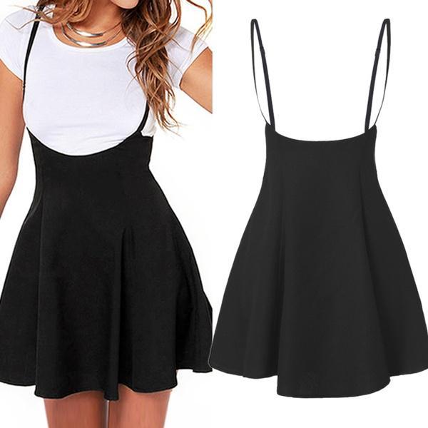Женская мода в целом Strappy Черное платье плиссированные мини короткие юбки трапециевидная юбка купить недорого — выгодные цены, бесплатная доставка, реальные отзывы с фото — Joom