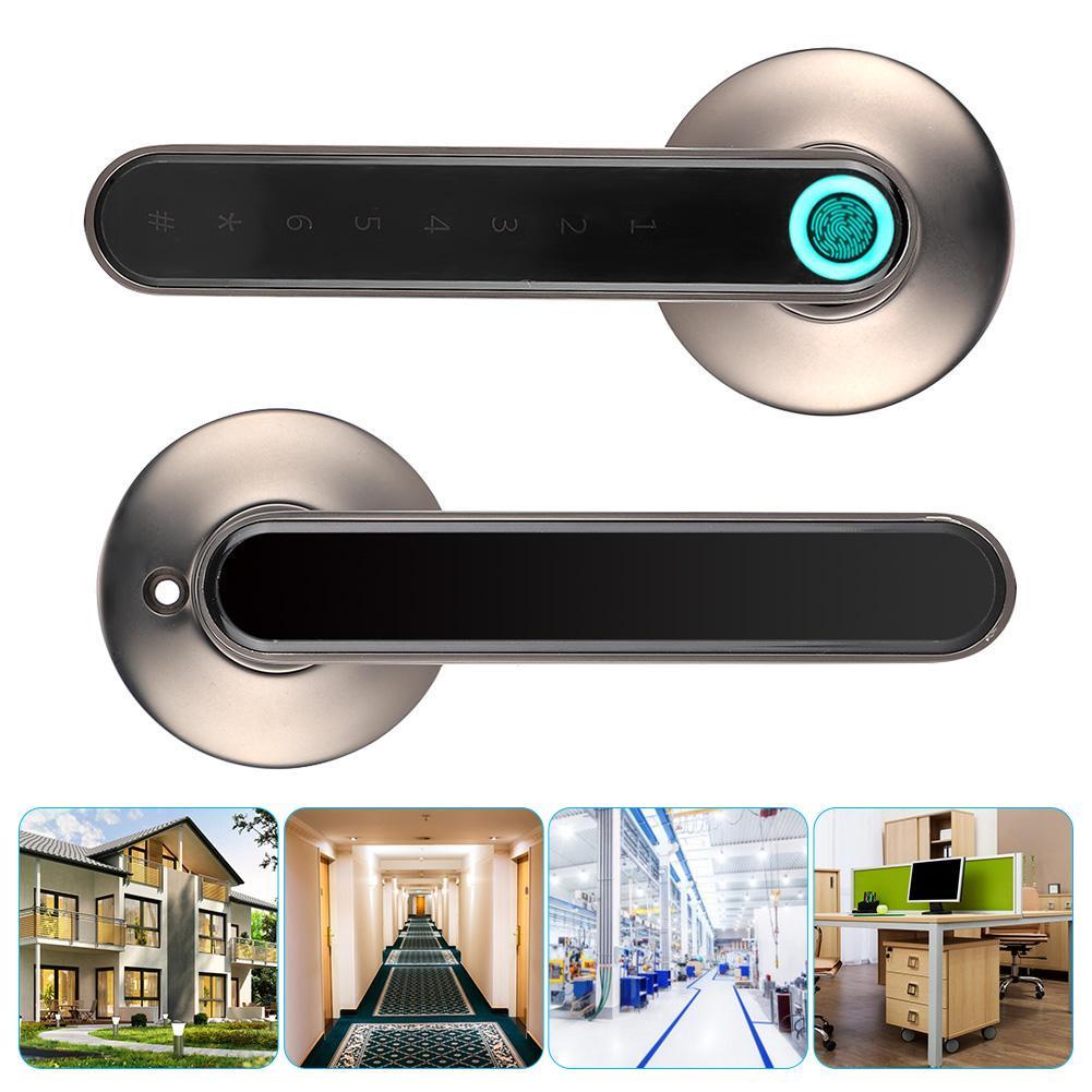 Smart Biometric Security Electronic Home Office Fingerprint Door Handle Lock