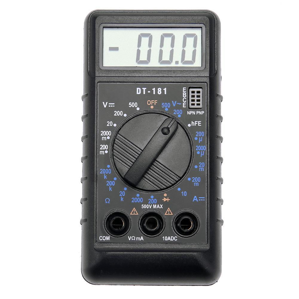 DT181 Pocket Mini Digital LCD Multimeter Card Type Voltage Resistance Meter
