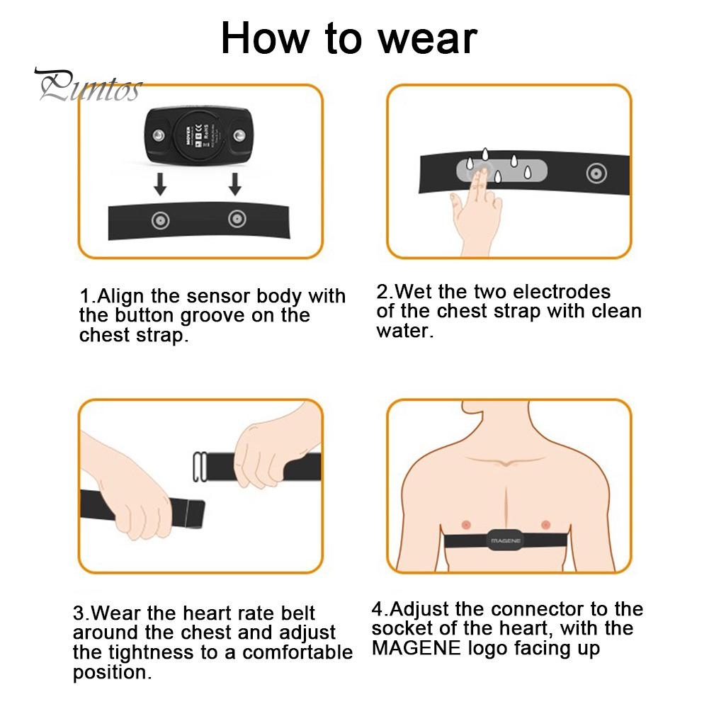 Magene Cycling Bike Bluetooth 4.0 ANT Sensor Heart Rate Monitor Chest Strap