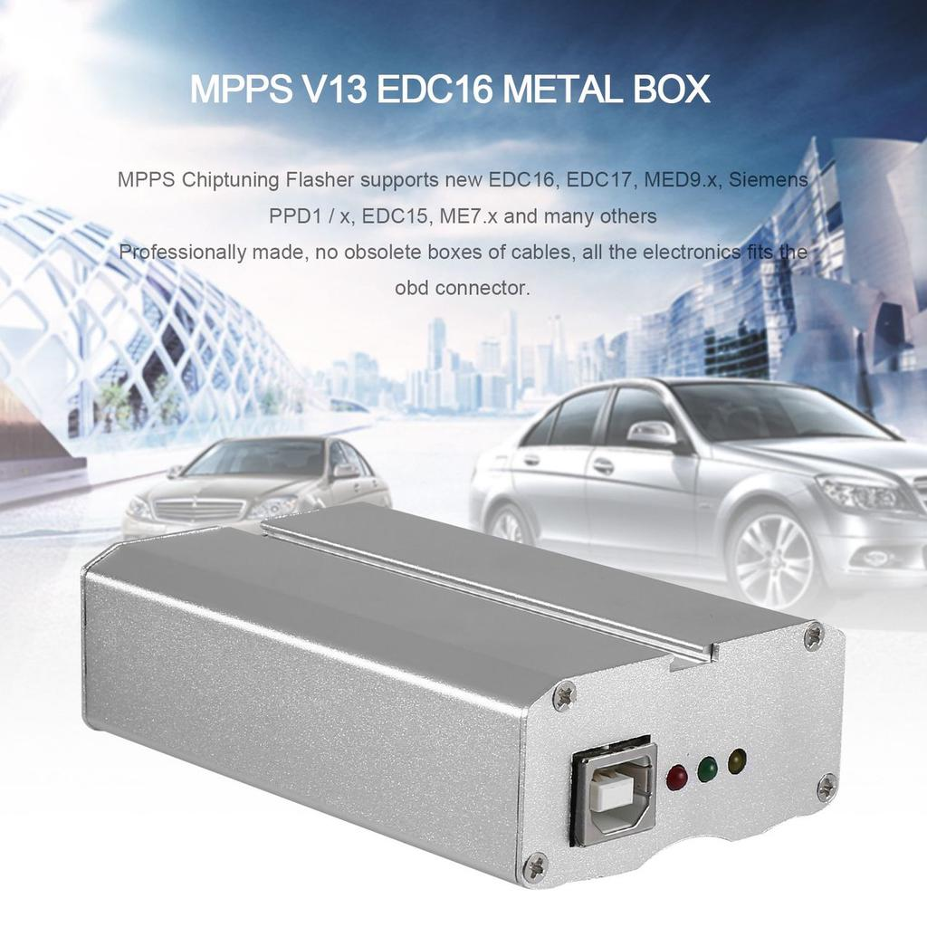 Quality SMPS MPPS V13 EDC16 Chip Tuning Remap K + CAN Flasher Metal Box Chip