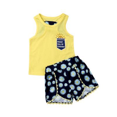 UK Toddler Kids Baby Girls Clothes Dot Vest Tops Pants Summer 3PCS Outfits Set