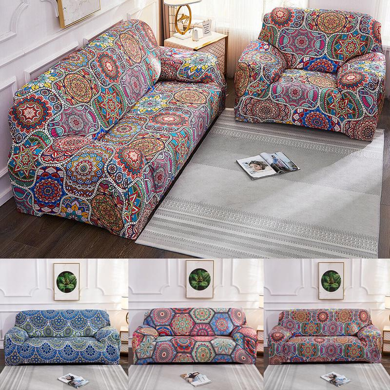 Bohemian Stretch Slipcover Sofa Cover Printed Morocco Slipcover Home Decoration