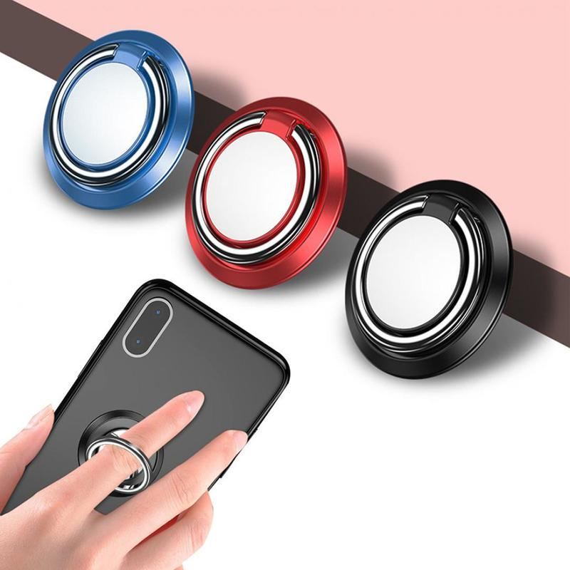 Кольцо Телефон Держатель Мода Цинк Сплав 360 Вращающийся Магнитный Grip Пальцевое кольцо Сотовый телефон держатель