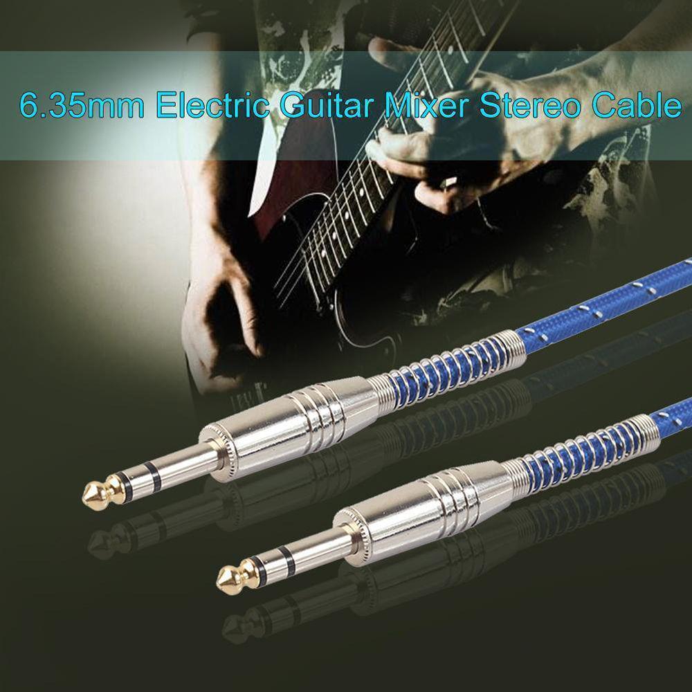 6,35 mm Feder Coil Stereo-Audio-Kabel e-Gitarre Draht Stecker ...