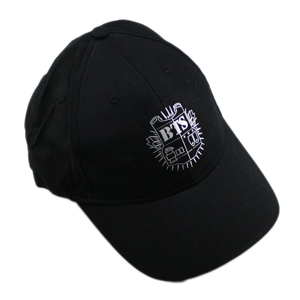 81b4a1862bc6 Moda diseño BTS KPOP sombrero clásico negro gorra hip-hop gorras