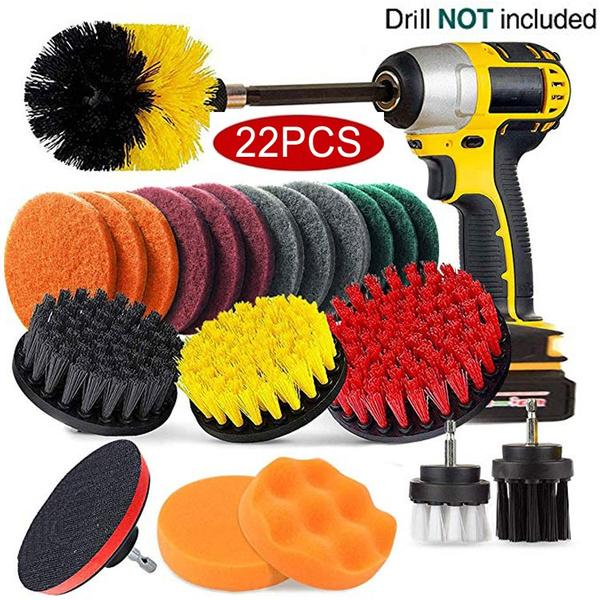 """3Pcs Power Scrubber Drill Brush Attachment Cleaning Combo Tools with 1//4/""""Shank"""