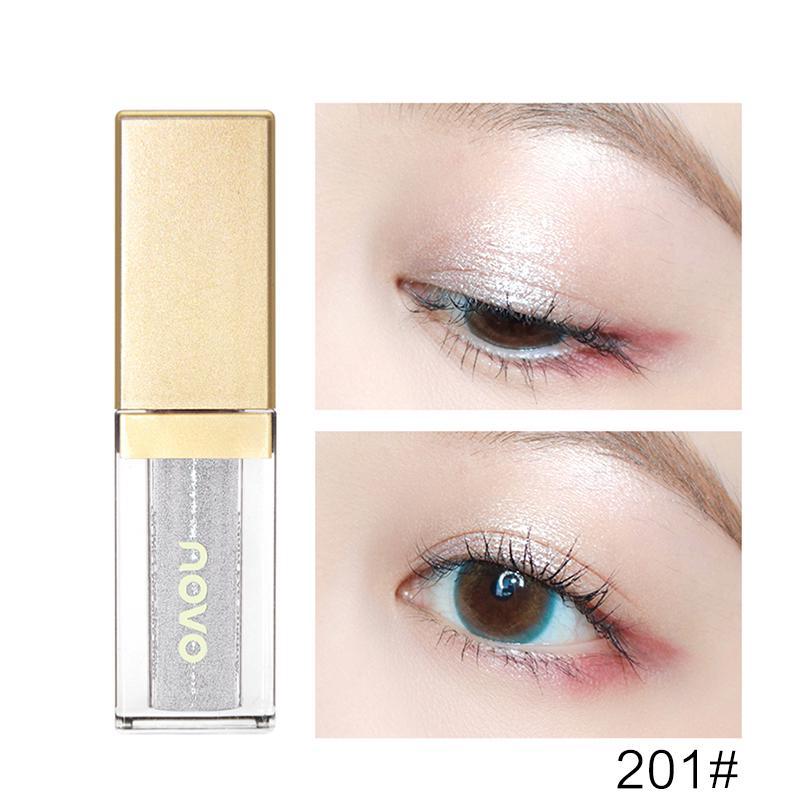 Eye Shadow Beauty & Health Novo 6 Color Diamond Shine Liquid Eyeshadow Makeup Glitter Eye Shadow Gel Waterproof Crystal Metallic Nude Natural Cosmetics