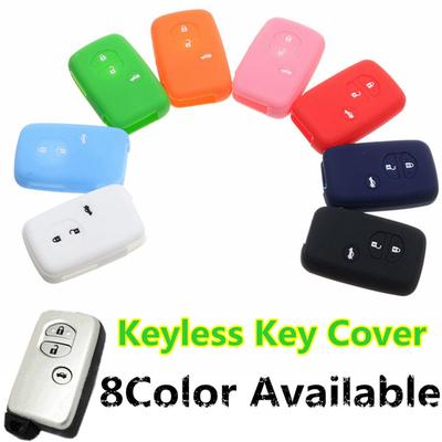 Car Silicone 3 Button BTN Remote Key Fob Case Cover Shell Protector For Toyota Prado Crown