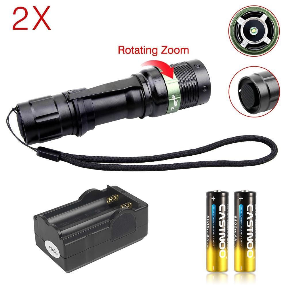 1000LM T6 LED 18650 Flashlight Rechargeable Torch 5 Modes Portable Fishing Lamp