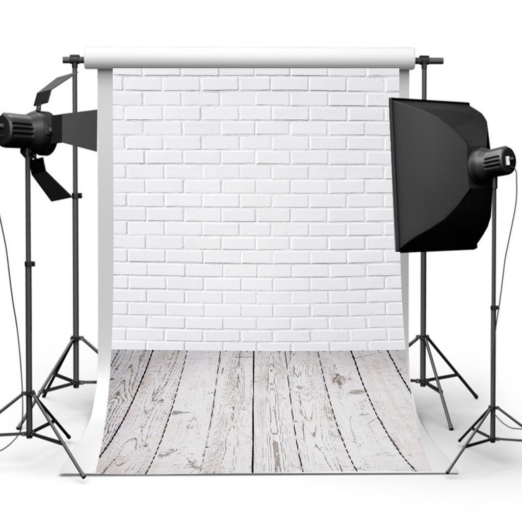 3x5FT белый кирпич стены этаж фото реквизиты виниловые ткани фотография фон фон студии – купить по низким ценам в интернет-магазине Joom