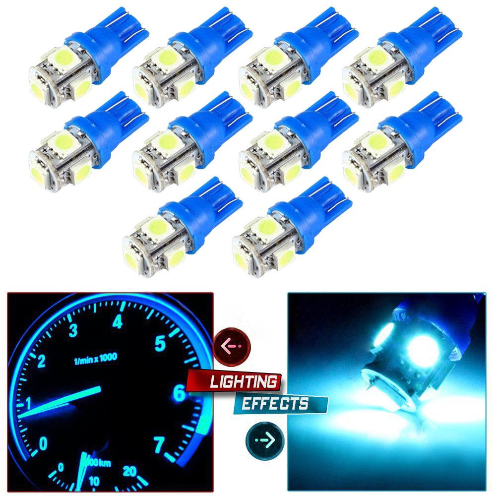 20 x Ice Blue T10 168 194 5050 5SMD LED Bulbs For Car License Plate Lights Lamp